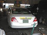 個人タクシーの車検整備になります