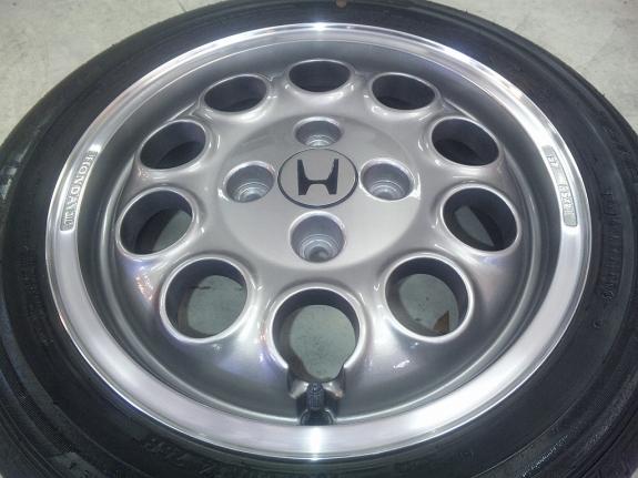 HONDA ビート純正ホイール ホイール修理&ホイール再塗装