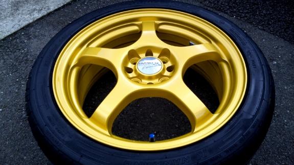 INPAL NS-GTII ホイール修理&カラーチェンジ(ゴールド塗装)