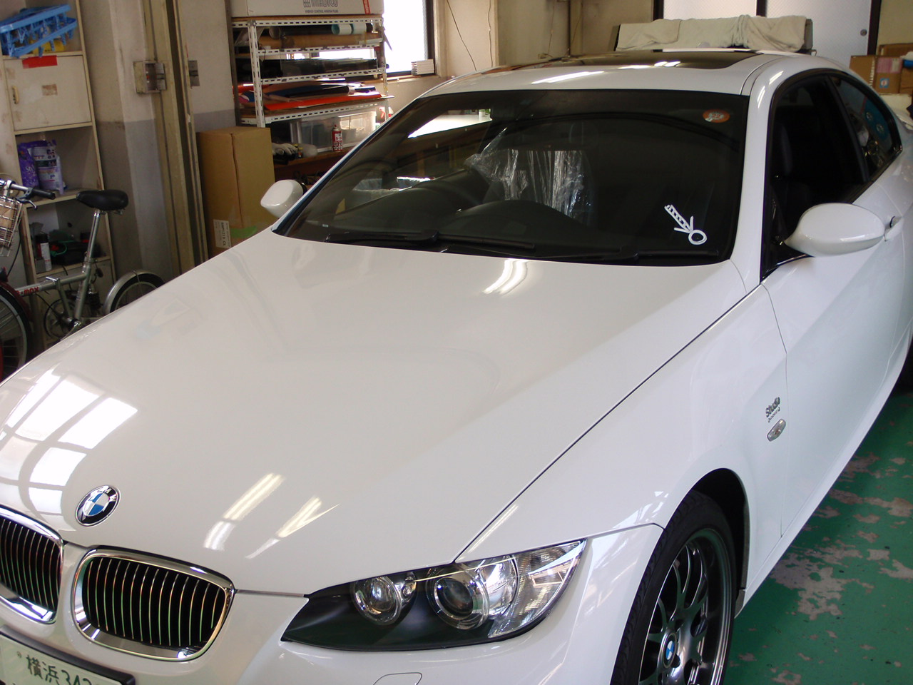 BMW E92 ガラス交換