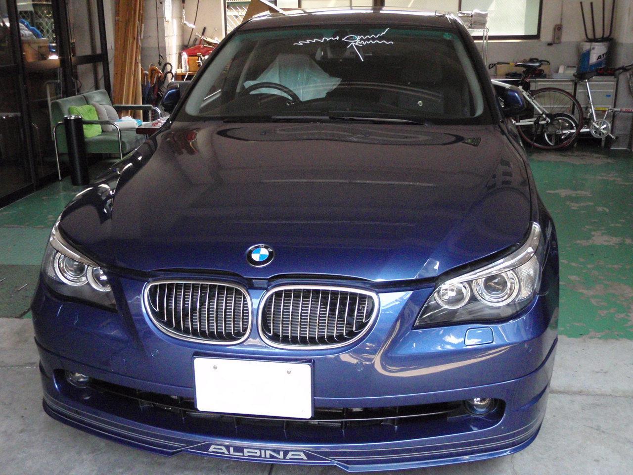 BMWアルピナB5 ガラス交換