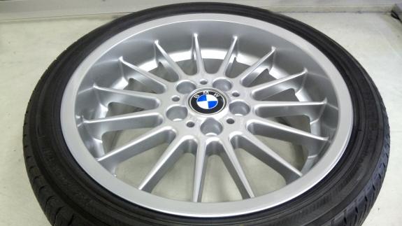 BMWアルピナホイール ホイール修理&ホイール再塗装(ハイパーシルバー)