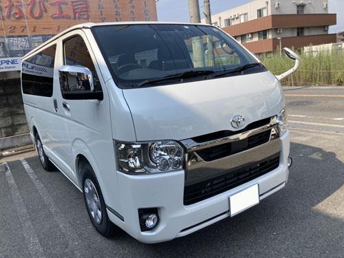 トヨタ、ハイエースにアルパイン、XF11NX2を販売取付しました。